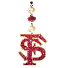 florida state bling set of 3 magnetic ornament