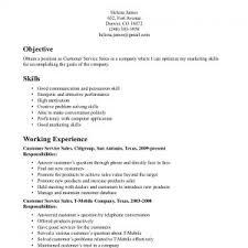 resume objective sample for customer service easy resume samples