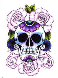 64 best day of the dead images on sugar skulls