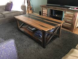 Unique Rustic Coffee Tables Diy Rustic Coffee Table Album On Imgur