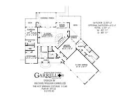 cottage house floor plans springs cottage 3 car covered porch plans