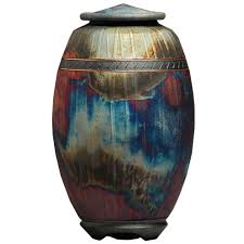 unique urns majestic raku fired urn unique urns for cremation memorial gallery