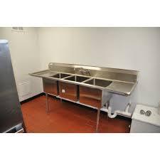 3 bay stainless steel sink 3 bay sink faucet sink ideas