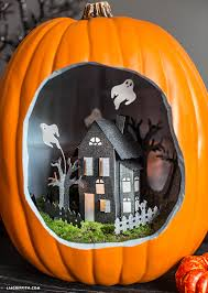 halloween pumpkin diorama haunted houses dioramas and house