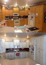 snow white and van brown kitchen cabinets general finishes