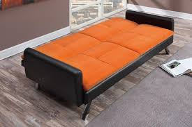 Orange Leather Chair Zed Orange Leather Sofa Bed Steal A Sofa Furniture Outlet Los