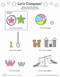 comparing heavy vs light worksheet education com