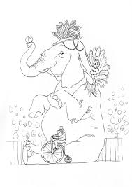 cute elephant coloring pages circus elephant coloring page