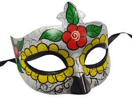 day of the dead cracked mask partynutters uk