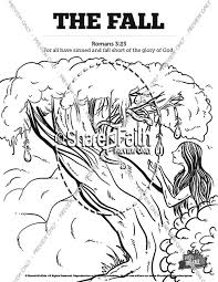 fall man genesis 3 bible coloring pages sunday