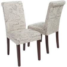 French Script Armchair Edeline Set Of 2 Upholstered French Script Dining Chairs