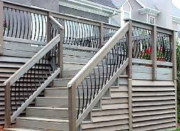 composite decking stairs w metal railings composite and vinyl