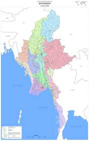 Bay Of Bengal Map Document Administrative Map Myanmar Country Map Large