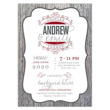 couples shower invitations any color aged wood scroll photo couples shower invitations