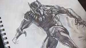 sketching black panther pencil marvel youtube