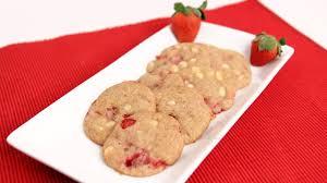 white chocolate strawberry cookies recipe laura vitale laura