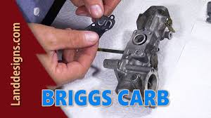 briggs carb rebuild youtube