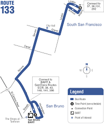 Bart Line Map by Route 133