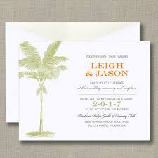 truly palm tree bright white wedding invitation all invitations