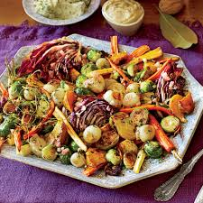 things to eat on thanksgiving roasted vegetable salad u0026 apple cider vinaigrette recipe myrecipes