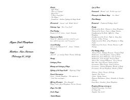 wedding program sizes wedding extraordinary wedding ceremony template booklet free
