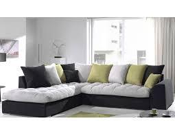 canapé d angle gris canapé d angle en tissu gris clair et noir verona hcommehome