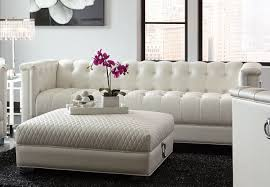 sofa in white leatherette 505391 by coaster w options