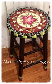 Bar Stool Top Best 25 Painted Bar Stools Ideas On Pinterest Stool Makeover