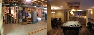 majestic looking finished basement before and after finishing