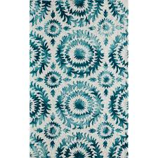 5 By 7 Rug Awesome Teal And White Area Rug Amazoncom Garland Silhouette Rug 5