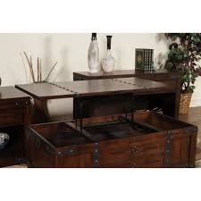 Coffee Tables Lift Top by Sunny Designs Sante Fe Lift Top Coffee Table Dark Chocolate