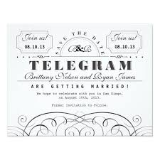 Telegram Wedding Invitation Classic Telegram Save The Date U003e U003e Wedding Invitations