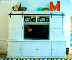 barn door tv wall cabinet tv wall cabinet with doors cabinet with folding x panel doors view