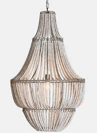 white wash wood white wash wood beaded chandelier antique farmhouse