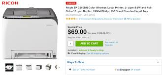 get this wireless color laser printer by ricoh in time for tax