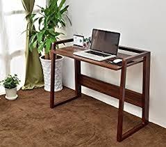 Computer Desks For Small Spaces by Amazon Com Laputa Foldable Computer Desk Natural Wood Adjustable