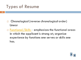 resume experience chronological order or relevance theory business english lecture ppt download