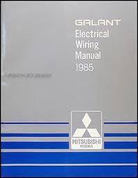 1985 mitsubishi galant wiring diagram manual original