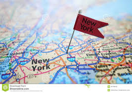 New Yorks Flag New York Flag And Map Stock Image Image Of Tourism Travel 40168633