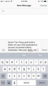 Resume Accent Mark Quick Tip How To Use Accents On Your Iphone Ipad Or Ipod Touch