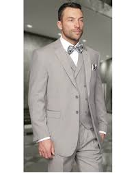 light gray vested suit light gray windowpane with db vest 3 piece classic fit 100 wool