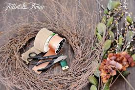 diy inexpensive fall wreath and fancy bow tidbits twine