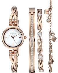 anne klein bracelet set images Amazing deal on anne klein women 39 s swarovski crystal accented rose