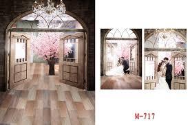 wedding vinyl backdrop 5x7ft wedding cherry blossoms 2015 cloth photography vinyl