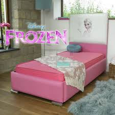 Frozen Beds Disney Frozen Pink Leather Bed With Organic Cotton Spring Mattress