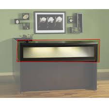 Napoli Reception Desk Mayline Aberdeen Reception Desk L Shaped W 2 Pedestal File Drawers