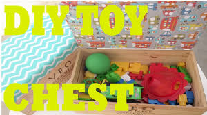 Build A Toy Box With Lid by D I Y Toy Chest Seat Youtube