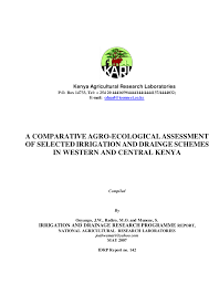si e de balan ire a comparative agro ecological assessment of selected irrigation and