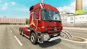 mercedes benz actros mp4 red mercedes benz actros mp4 longline for euro truck simulator 2