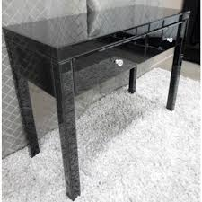 mirrored console vanity table black glass mirrored console hallway dressing table